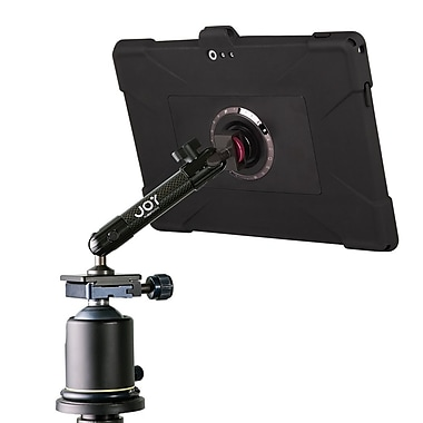 Joy Factory MWM101 MagConnect Carbon Fiber Tripod/Mic Stand Mount w/Detachable aXtion Edge M Slim Silicon Case for Surface Pro 3