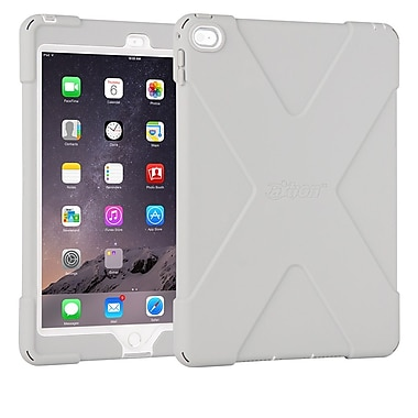 The Joy Factory CWA212G aXtion Bold, Rugged Case w/Built-in Screen Protector Touch ID Compatible for iPad Air 2, Grey/White