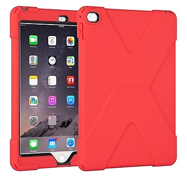 The Joy Factory CWA212R aXtion Bold, Rugged Case w/Built-in Screen Protector Touch ID Compatible for iPad Air 2, Red/Black