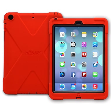 The Joy Factory CWA202 aXtion Bold, Rugged Water-resistant Case w/built-in screen protector for iPad Air, Red/Black