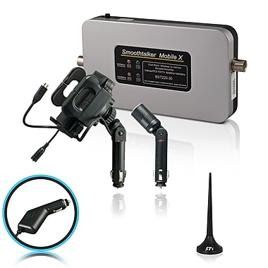 Smoothtalker #BT30MinUPA Mobile X-30db Cellular Signal Booster Kit with Universal Cradle, Mini Magnetic Antenna
