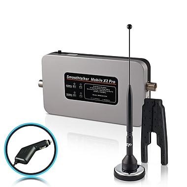 Smoothtalker #BM53M11PC Mobile X2 Pro-53db Wireless Vehicle Cellular Signal Booster Kit for Van or RV, 11