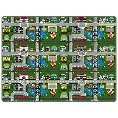 Flagship Carpets Educational Green Places To Go Area Rug; Square 6'