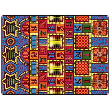 Flagship Carpets Educational Games That Teach Area Rug; 12' x 18'