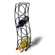 Spectrum Diversified Curve 4 Bottle Tabletop Wine Rack; Black
