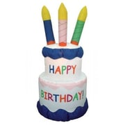 BZB Goods Inflatable Cake w/ Candles Happy Birthday Decoration