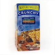 Nature Valley Crunchy Granola Variety Pack 60 Bars/Pack (41124)