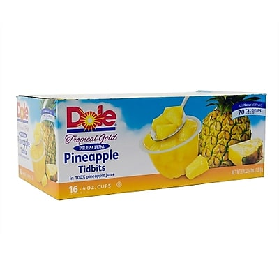 Dole Pineapple Tidbit Bowls 16 Count (220-00474) 1787230
