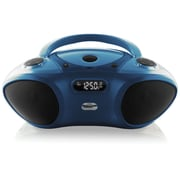 HamiltonBuhl HB-100BT Boombox with Bluetooth Receiver, Blue