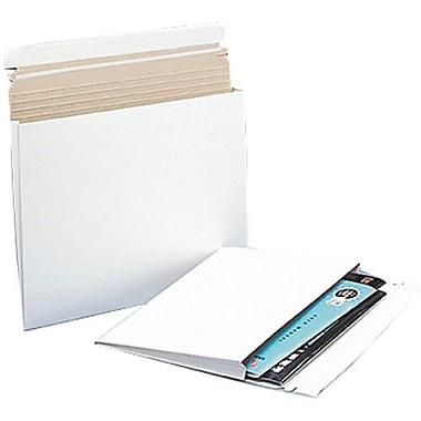 JAM PaperMD – Enveloppes d'expédition pour photos extensibles, 15 x 12 1/2 x 1 po, blanc, paq./10