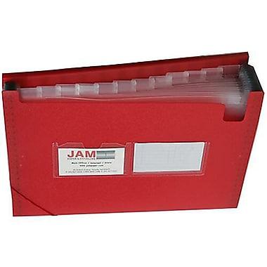 JAM Paper® 13 Pocket Expanding File, Letter Size, 9 x 13, Red, 2/Pack (2163589g)