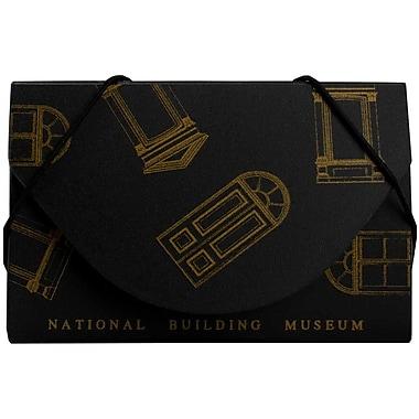 Jam PaperMD – Étui pour cartes professionnelles du National Building Museum, rouge/noir, paquet de 5
