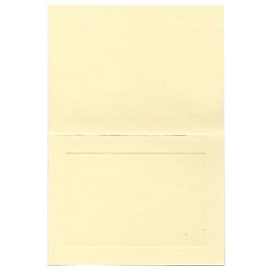 JAM Paper® Blank Foldover Cards, A6 size, 4.63 x 6.25, Cream Ivory Panel, 500/Pack (3094746B)