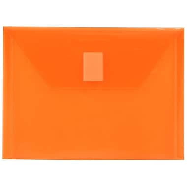 JAM PaperMD – Porte-documents en plastique avec fermeture VELCROMD, 5 1/2 x 7 1/2 po, orange, 24/p.