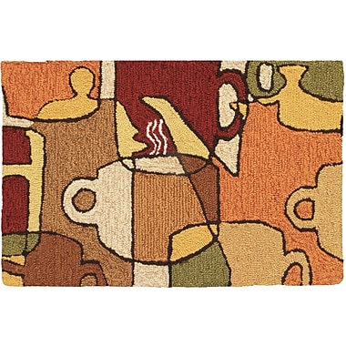 Homefires Coffee Collage Novelty Rug; 1'10'' x 2'10''