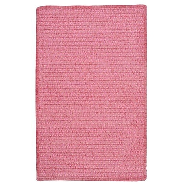 Colonial Mills Solid Chenille Pink Area Rug; Square 7'