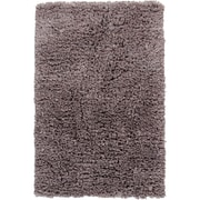 Chandra Paper Shag Grey Area Rug; 3'6'' x 5'6''