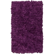 Chandra Paper Shag Purlpe Area Rug; 1'8'' x 2'6''