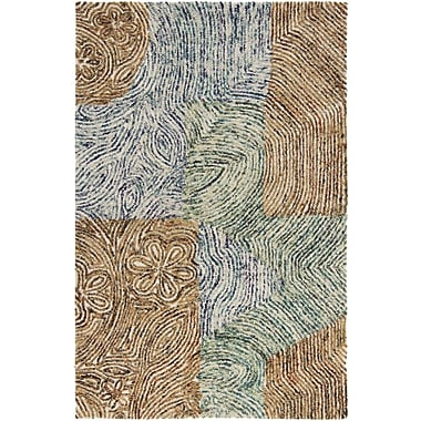 Chandra Twister Abstract Area Rug; 5' x 7'6''
