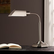 Wildon Home   Ottlite Montero Task 23'' H Table Lamp with Novelty Shade; Brushed Nickel