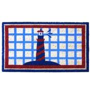 Rubber-Cal, Inc. Lighthouse on the Cape Cod Beach Doormat