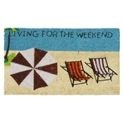 Rubber-Cal, Inc. Living for the Weekend Beach Fun Welcome Doormat