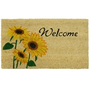 Rubber-Cal, Inc. Sunflower Welcome Floral Doormat