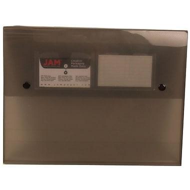 JAM Paper® Portfolio with 2 Button Snap Closure, 9.5 x 12.5 x 0.75, Smoke Grey, 6/Pack (520smokeg)