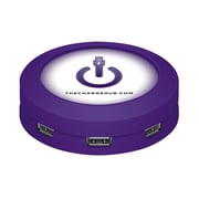 ChargeHub™ USB Universal Charging Station, Round,Purple