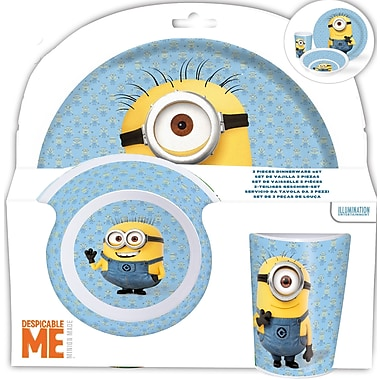 Minions 3-Piece Melamine Set, 2/Pack
