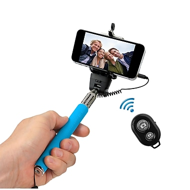 Xtreme Selfie Stick with Bluetooth Remote, Blue