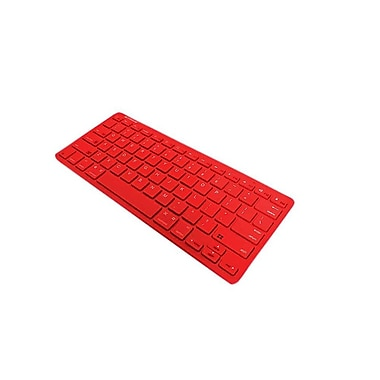 Xtreme Cables Bluetooth Wireless Keyboard, Red