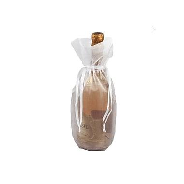 B2B Wraps Organza Bags Basic with Satin Draw String, Bottle/Wine, 6 1/2 x 15