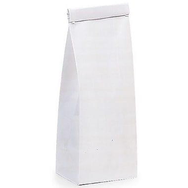 Nashville Wraps Paper Tin Tie Coffee Bags, White, 1/2 lb, 3-3/8