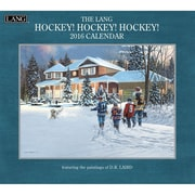 "2016 LANG Hockey Hockey Hockey 13 3/8""x12"" Wall Calendar (1001916)"