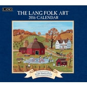 "2016 LANG Folk Art™ 13 3/8""x12"" Wall Calendar (1001922)"