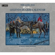 "2016 LANG Legends In Gray 13 3/8""x12"" Wall Calendar (1001923)"