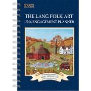 "LANG 2016 Lang Folk Art 6.25"" x 9"" Engagement Planner, Spiral (1011086)"