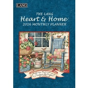 """2016 LANG Heart & Home® 8.25""""x13"""" Monthly Planner (1012098)"""