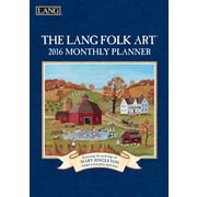 "2016 LANG Lang Folk Art™ 8.25""x13"" Monthly Planner (1012099)"