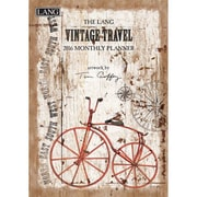 """2016 LANG Vintage Travel 8.25""""x13"""" Monthly Planner (1012105)"""