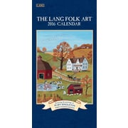 "2016 LANG Lang Folk Art™ 7.75""x15.5"" Vertical Wall Calendar (1079119)"