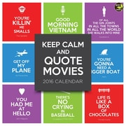 "2016 TF Publishing 12"" x 12"" Keep Calm and Quote Movies Wall Calendar (16-1019)"