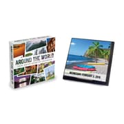 "2016 TF Publishing 5 1/4"" x 5 1/2"" Around The World Daily Desktop Calendar (16-3288)"