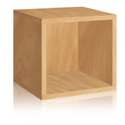 Way Basics Eco-Friendly Stackable Storage Cube Organizer, Natural Wood Grain - Lifetime Warranty