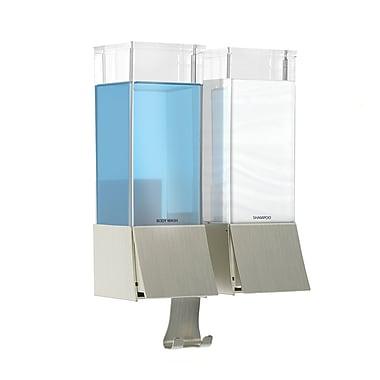 Linea Luxury Double Dispenser, Brushed Nickel