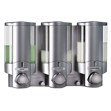 Aviva – Distributeur à savon avec 3 réservoirs, argenté satiné