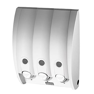 Curve – Distributeur à savon avec 3 réservoirs, argenté lustré