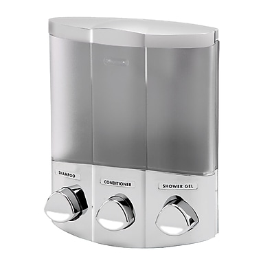 Euro Dispenser Trio, Satin Silver