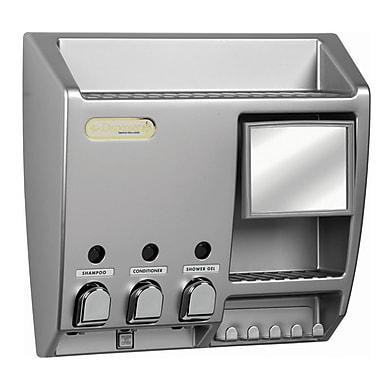 Ulti-Mate Dispenser 3 with Mirror, Satin Nickel